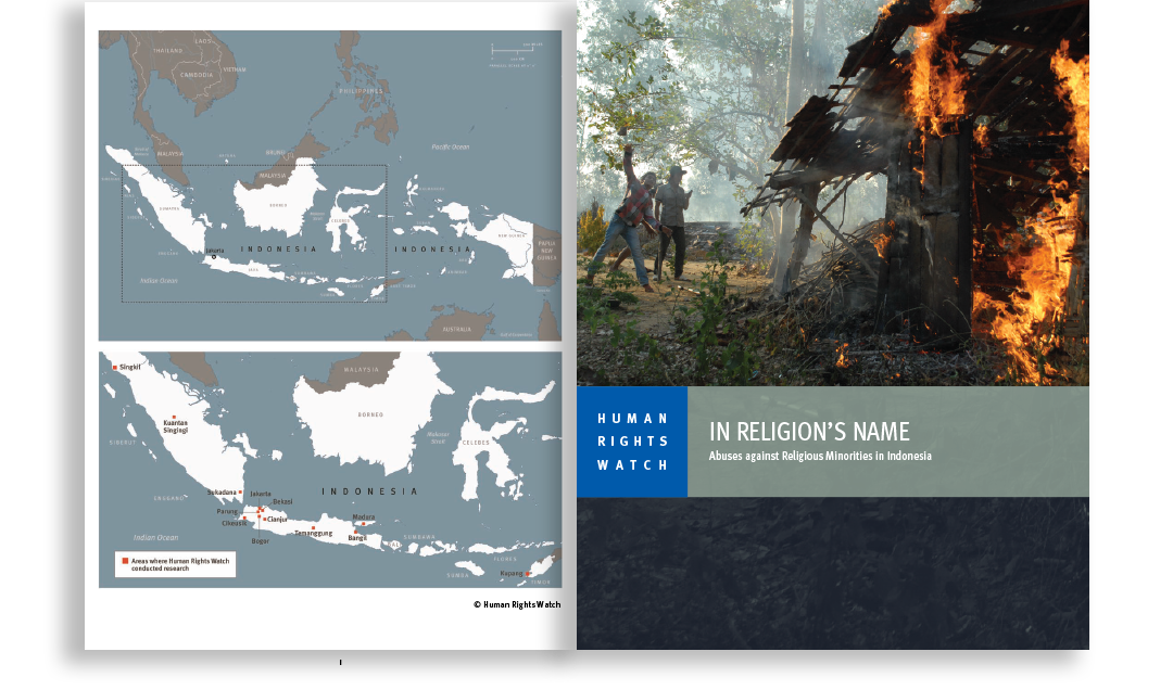 indonesia report cover and map