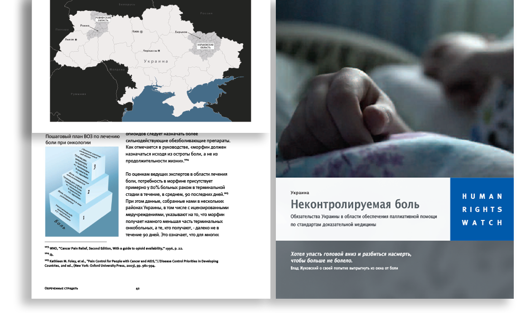 ukraine palliative care report cover and interior page